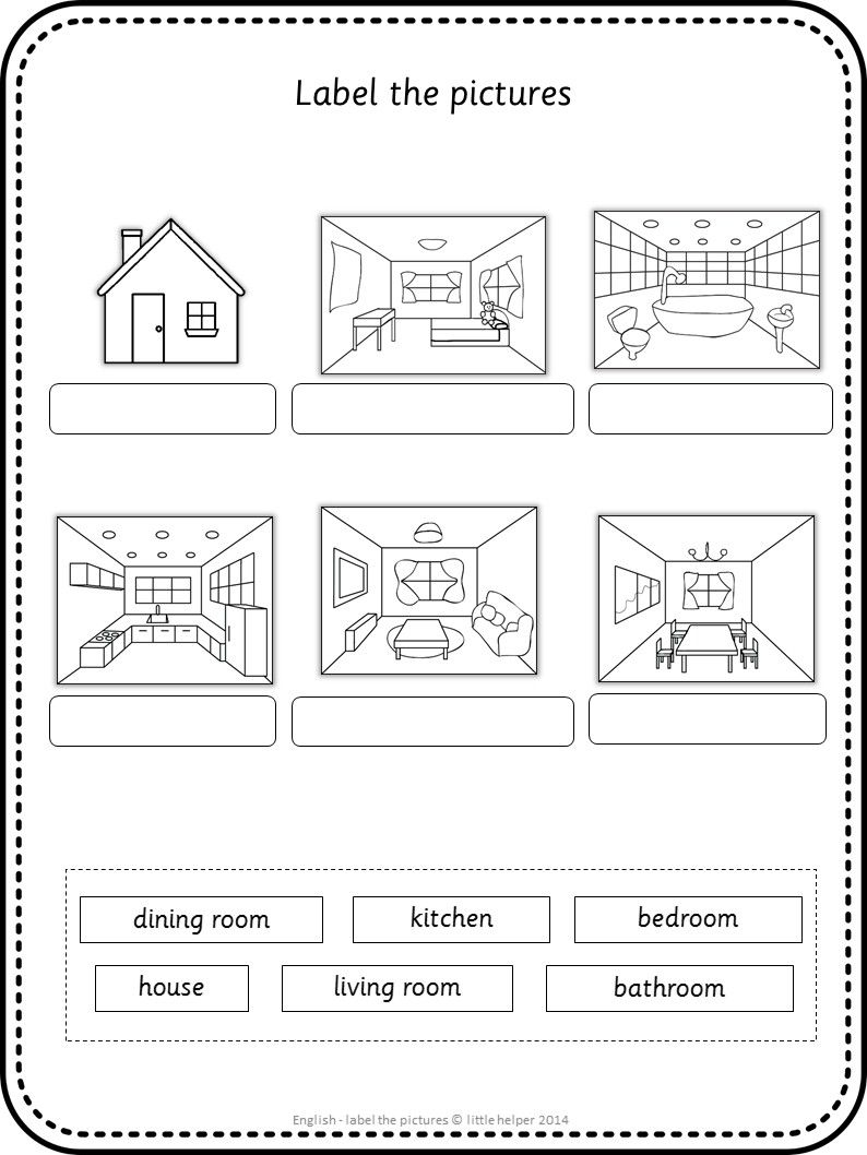 Label Rooms Of House In German