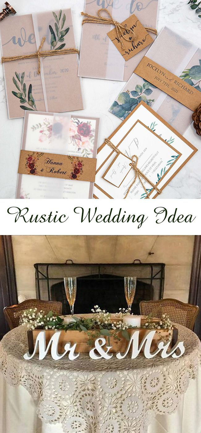 Chic Rustic Wedding Invitations at Stylish Wedd  | StylishWedd