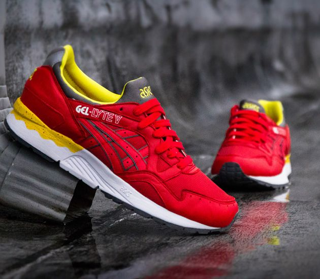 Sudor Relativo dolor  Asics Gel Lyte V – Fiery Red/White | Running shoes for men, Beautiful  sneakers, Asics