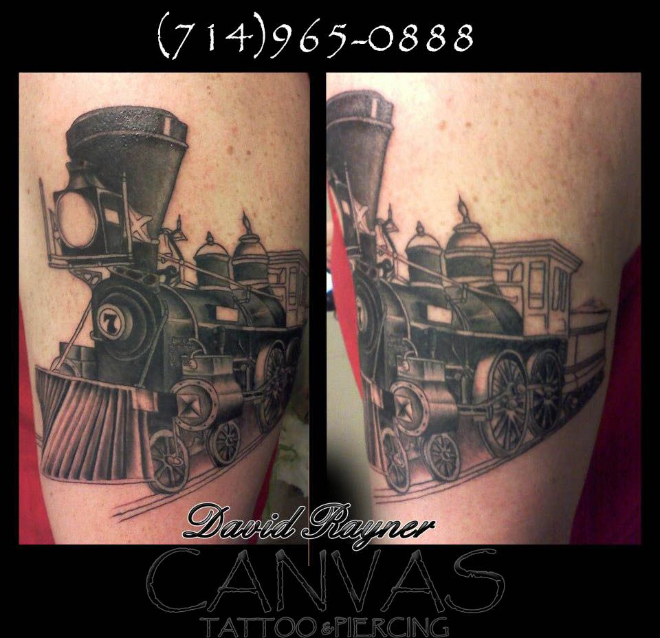 Route 66 tattoo picture at checkoutmyink com - Train Tattoo In Progress