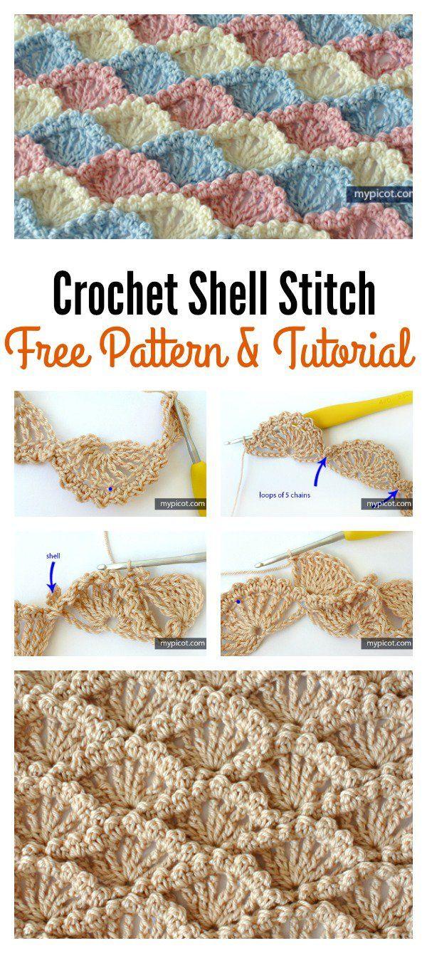 Beautiful Shell Stitch Crochet Free Patterns and Projects (Part 1 ...
