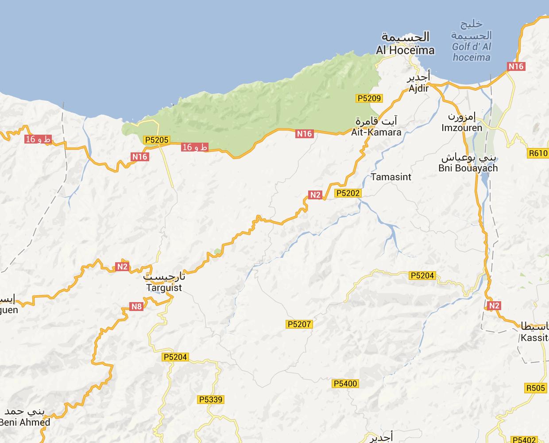 Beni Hadifa plan de Beni Hadifa au Maroc Taza Al Hoceima