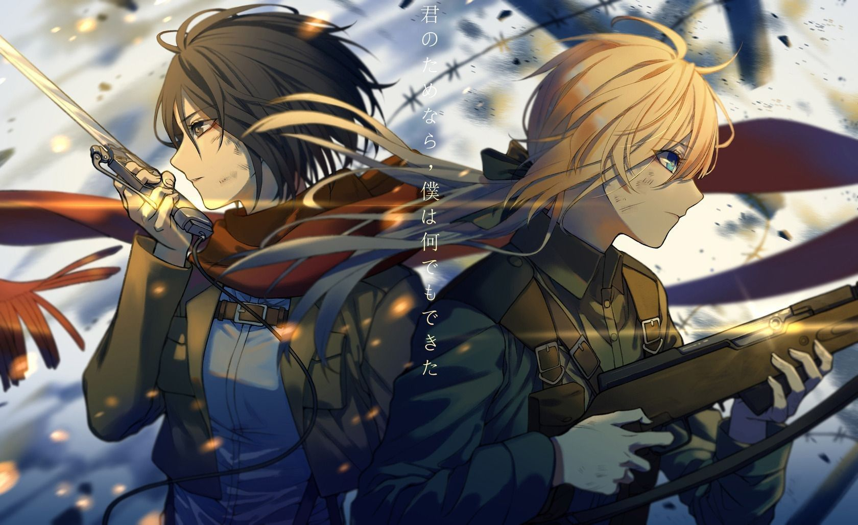 mikasa ackerman and violet evergarden Violet evergreen