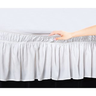 Copper Grove Yarrow Easy Wrap Platform Free 16 Inch Drop Bed Skirt