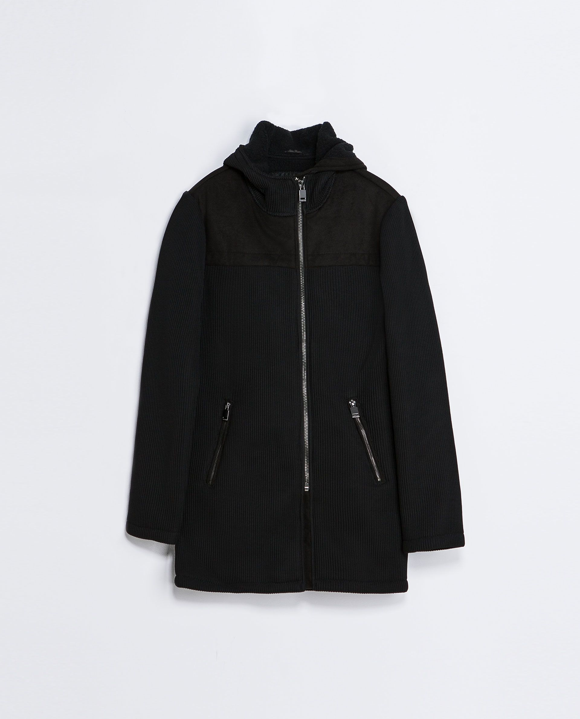 b332eb8d Zara KNITTED THREE QUARTER LENGTH COAT WITH HOOD Ref. 0706/325 179.00 CAD  OUTER SHELL 100% POLYESTER