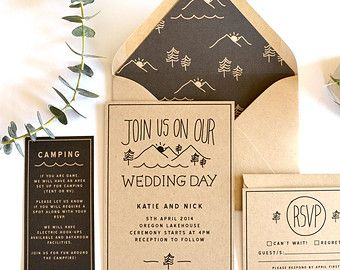 mountain wedding invitations Google Search wedding ideas