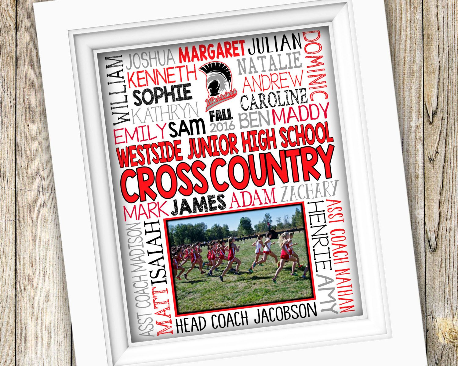 Cross Country Coach Gift ~ Cross Country Team Gift ~ Personalized Team Photo Gift ~ Cross Country Gifts Track Gifts ~ PRINTABLE DIGITAL XC by SubwayStyle on ...