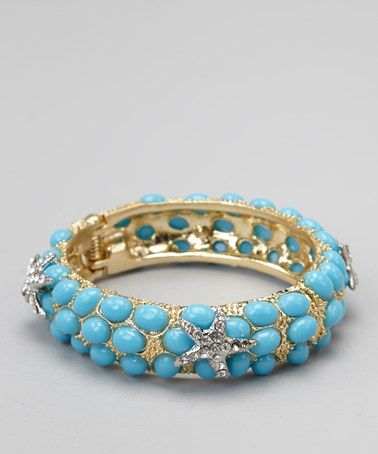 Take a look at this Turquoise Shimmer Starfish Bangle by Top It Off on #zulily today! $14 !!