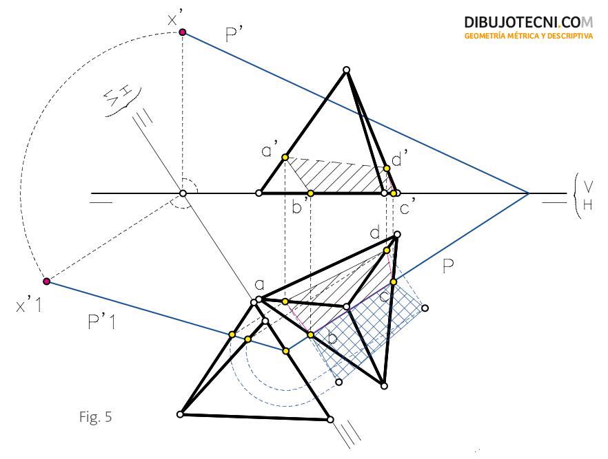 Seccion Por Un Plano Oblicuo Verdadera Magnitud De La Seccion Tecnicas De Dibujo Geometria Descriptiva Dibujo Isometrico