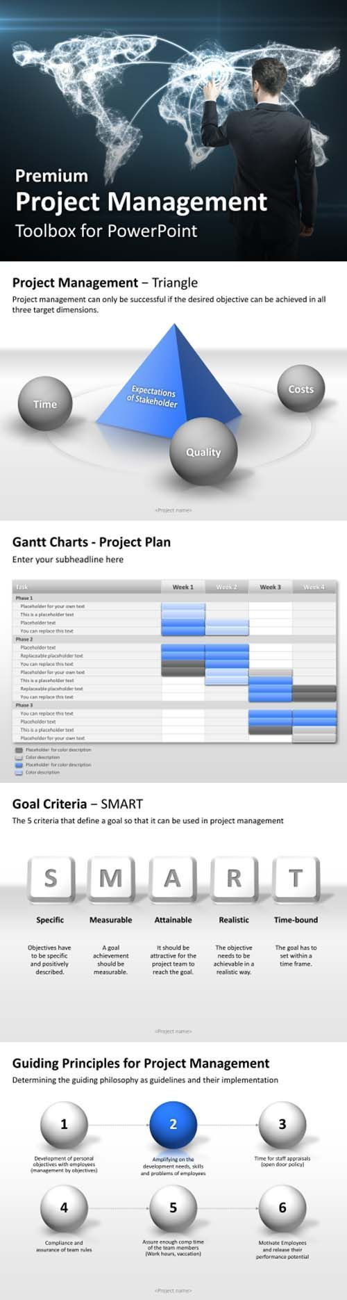 attractive powerpoint templates for project management in