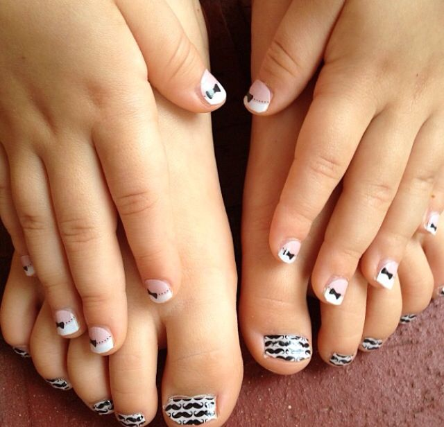 French Tip Bows & Little Mo Mo (Jamberry Juniors ...