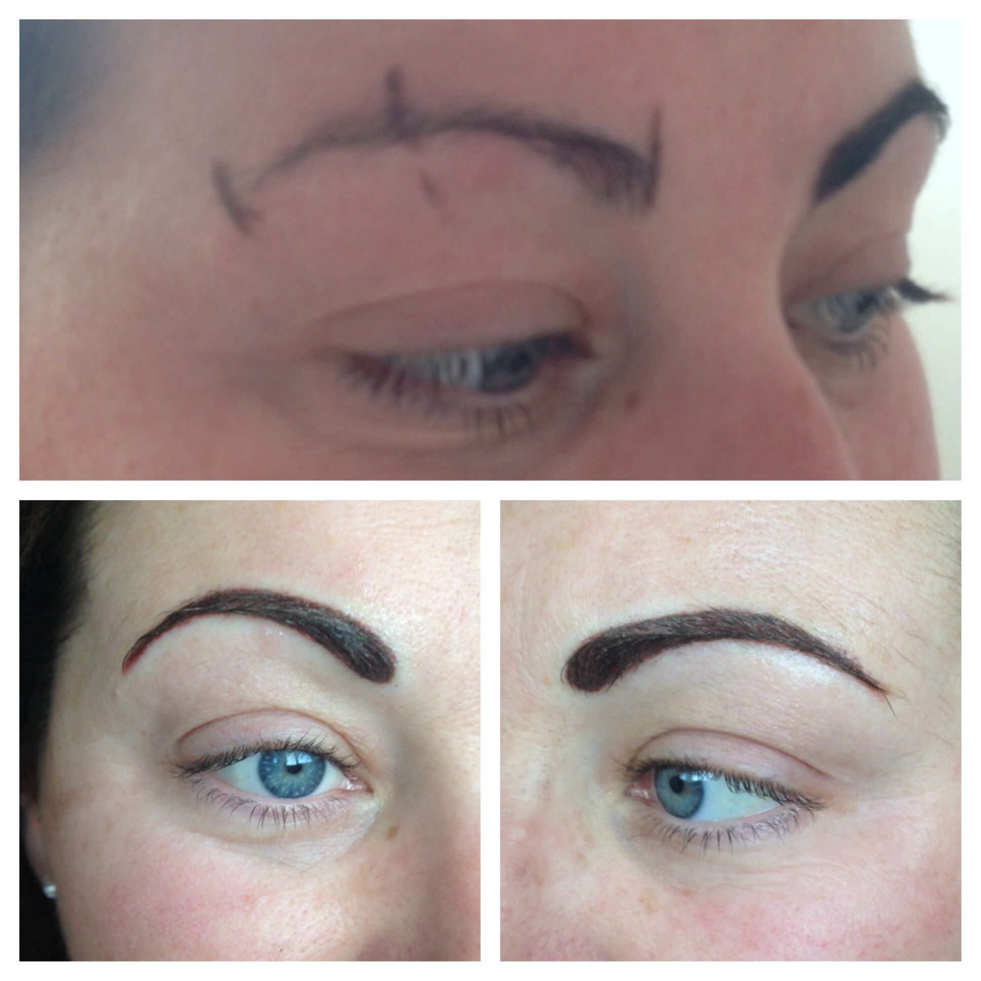 Powdered effect permanent brows done by Gemma Kennelly ...