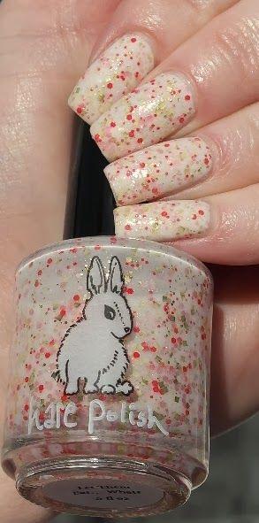 Let Them Eat...What? Hare Polish Manicure #HarePolish #LetThemEatWhat #Manicure #Indie #NailPolish #Nails #NailLacquer #GlitterPolish #GlitterBomb #PinkGlitter #RedGlitter #GoldGlitter #Valentine #WhiteBaseGlitter #IndiePolish #BeautyBlogger #BlogSale #NailPolishHaul