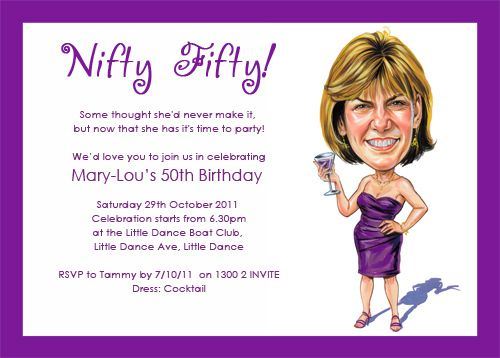Free Template Funny 50th Birthday Invitation Wording Ideas