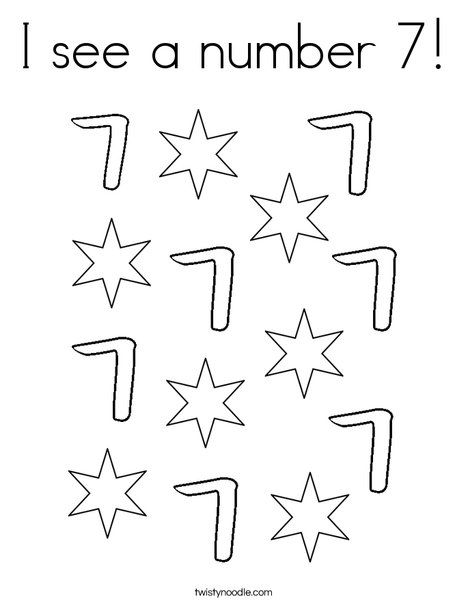 I See A Number 7 Coloring Page Coloring Pages Numbers Preschool Number 7