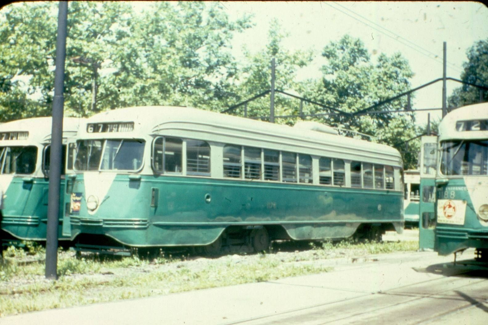 DC Transit PCCs in storage (believed to be the SW car barn ...