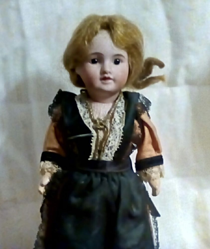 Rare SFBJ 9in. Bisque French Costume Doll