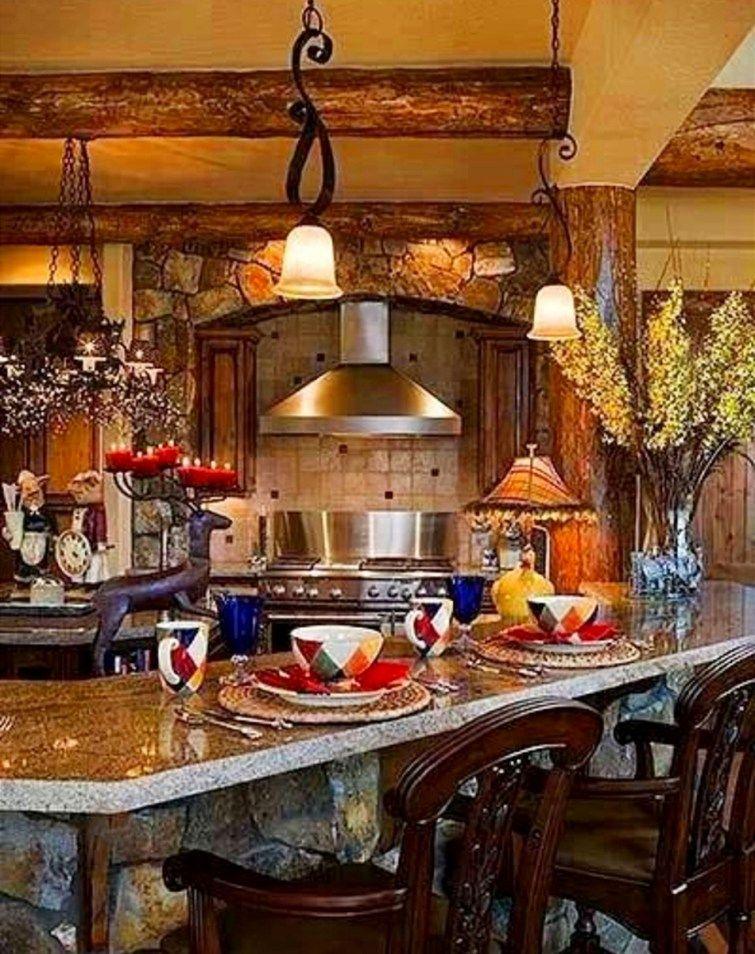 Italian Tuscan Farmhouse Kitchen LOVE These Colors And Decor Accents In This TuscanDecor ItalianKitchen TuscanFarmhouseDecor