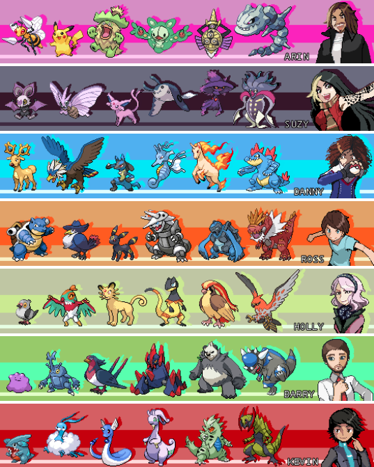 All Of The Grumps Holly S Pokemon Teams Amp Elite 4 Battle