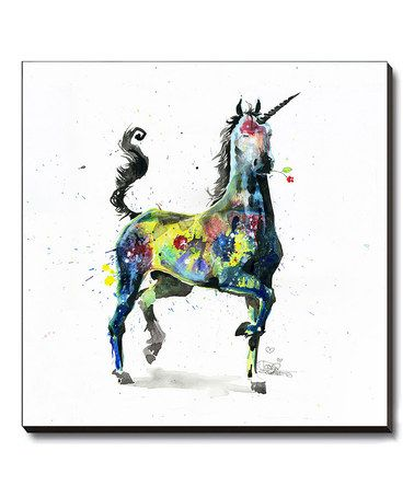 Another great find on #zulily! Unicorn Wrapped Canvas #zulilyfinds
