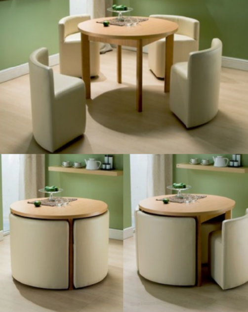 Hideaway Table And Chairs Set