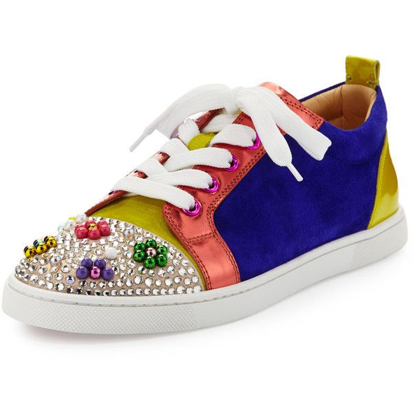 the latest c51e9 f45cc Christian Louboutin Gondocandy Colorblock Low-Top Sneaker ...