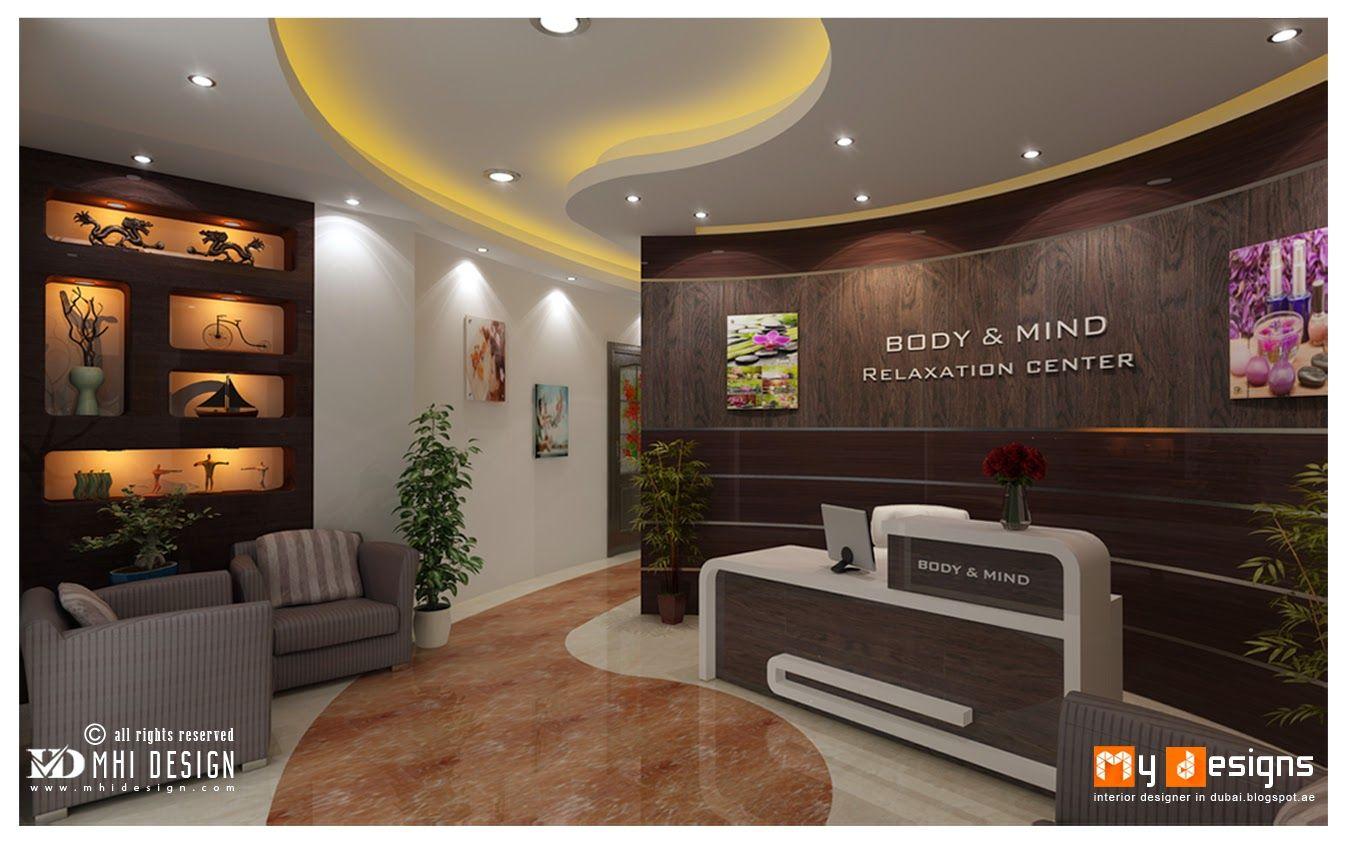 Dubai massage center interior design proposal for body and