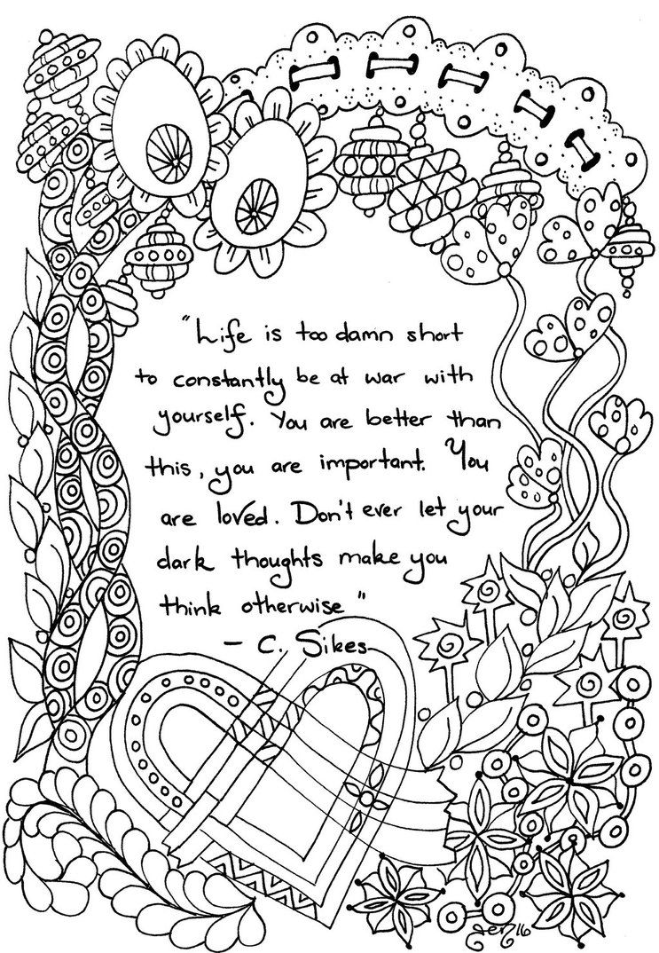 Colour Me Quote by astraldreamer My Colouring Designs