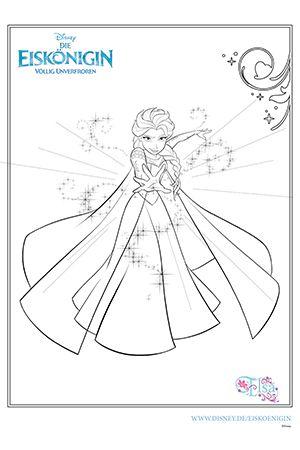 ausmalbild - elsa | malvorlagen eiskönigin, disney