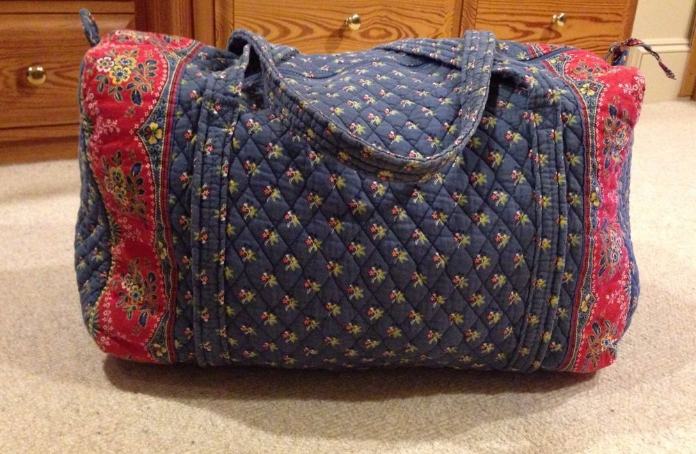Vera Bradley Emily Retired Print Large Duffle Bag Tote Weekender 100 Cotton Usa Verabradley Totespers