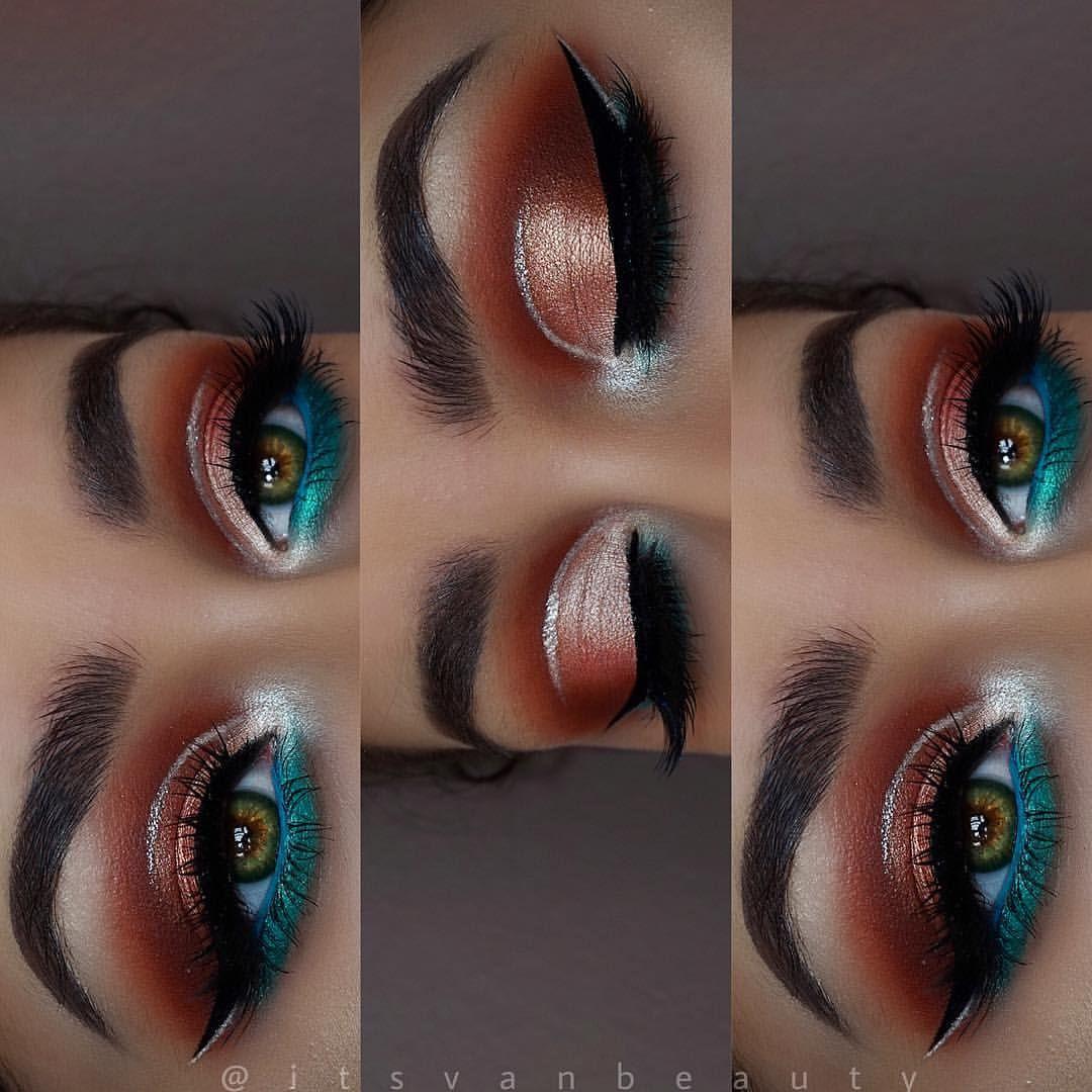 Warm copper eyeshadow, jaclyn hill X morphe palette