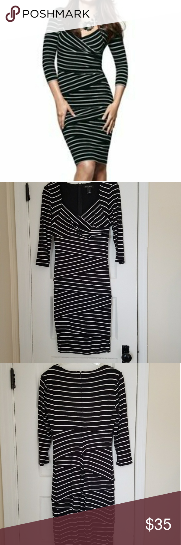 Black and white striped bodycon dress curtains venice