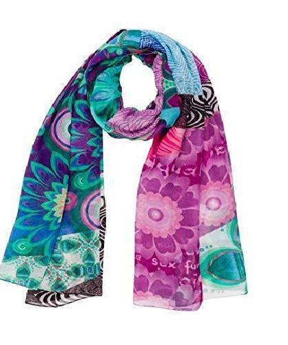 004e87bf6aea5 Desigual - allegra - foulard - imprimé - femme - rouge (violeta mistic) -