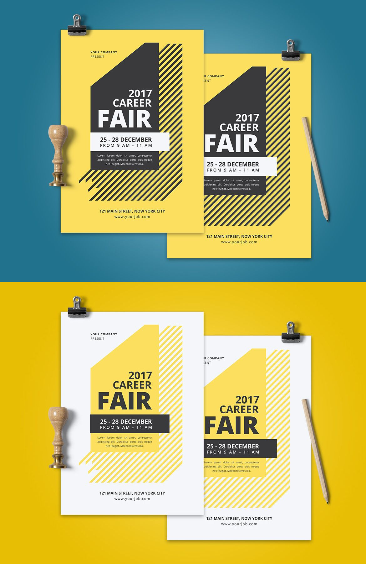 Career Fair Flyer Template AI, PSD | Flyer Templates | Pinterest ...