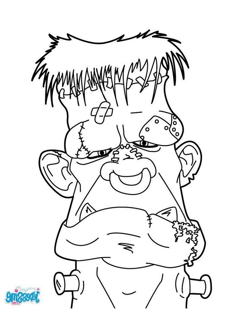 Monstre Qui Fait Peur Dessin : monstre, dessin, Divers, Coloriage, Monstre, Collection, Monstre,, Zombie,, Halloween