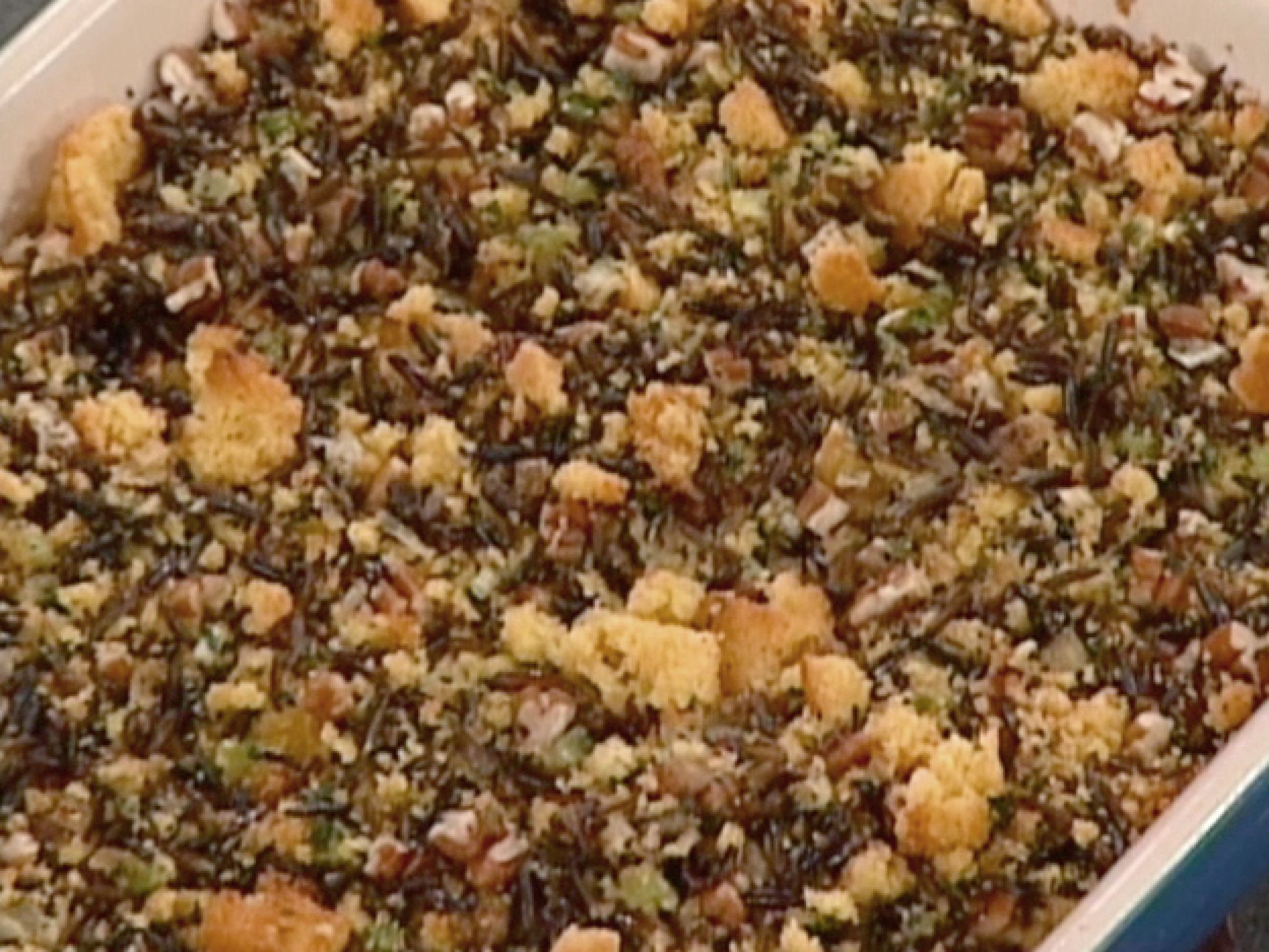 Wild Rice and Cornbread Dressing recipe from Emeril