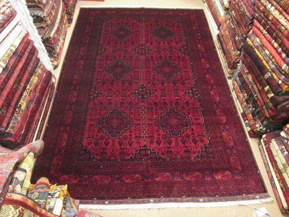Size 6 10 Ft By 10 Ft Handmade Rug Vintage Afghan Best Beljik Dark Red Carpet Bokhara Rug Shiraz Rug Oushak Rug Turksih Rug Yamut Rug Rugs Bohemian Rug Carpet