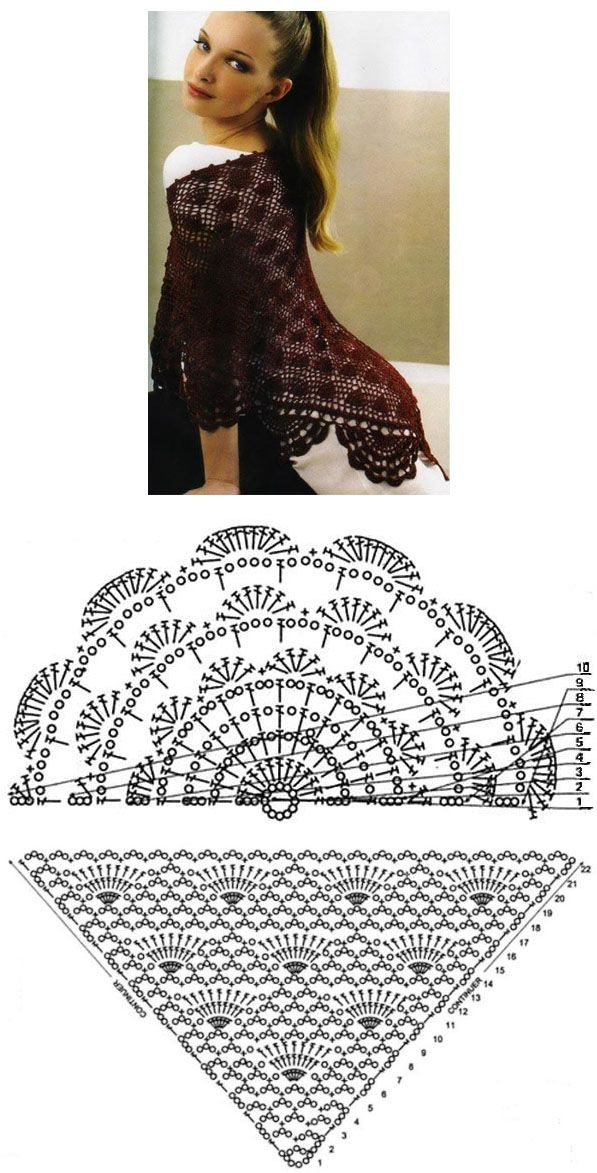 shwl 8 | Flamenca | Pinterest | Chal, Ponchos y Ganchillo