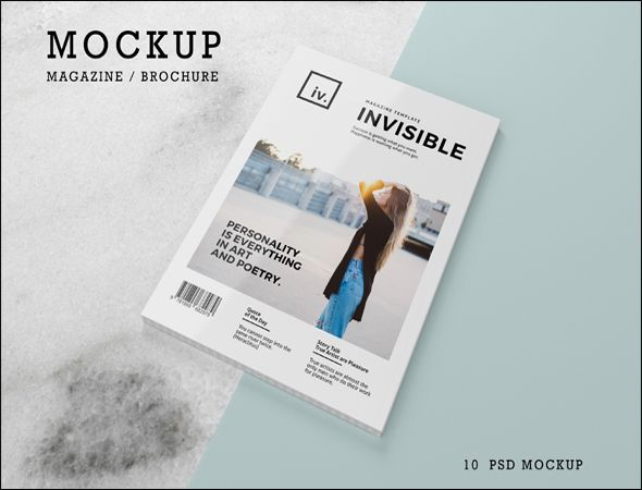 magazine template psd