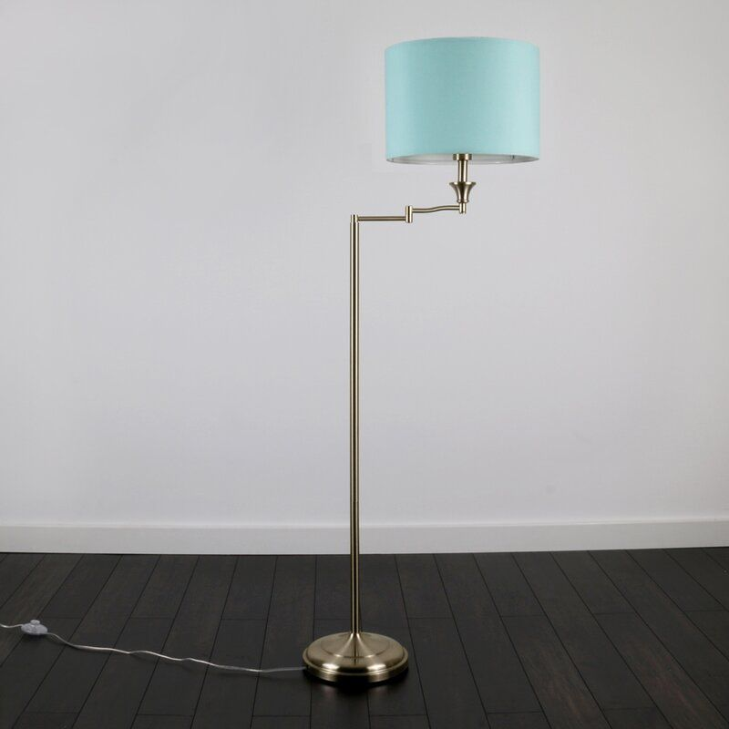 Duck Egg Blue Tripod Floor Lamp