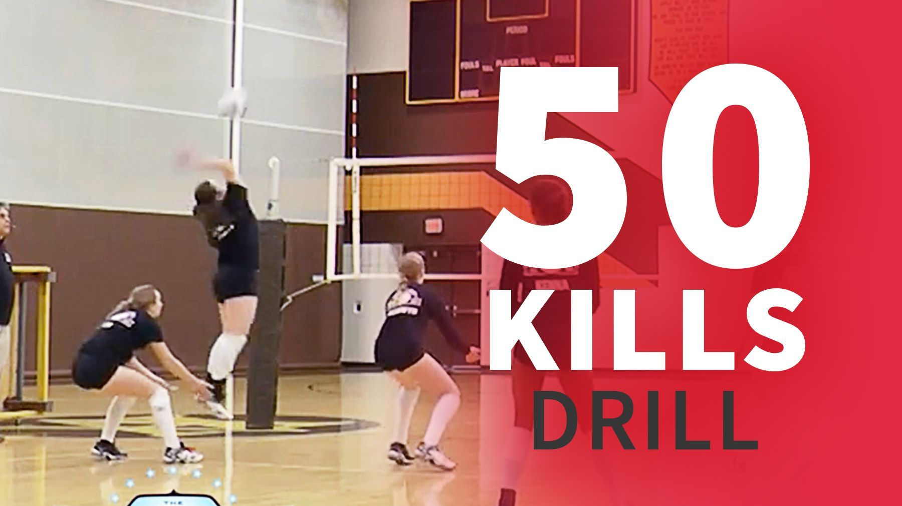 50 Kills Drill The Art Of Coaching Volleyball Volleyball Training Coaching Volleyball Volleyball Drills