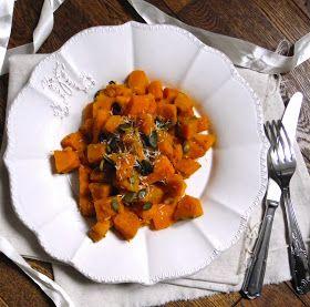 Rosenoisettes, Calme et Gourmandises...: Poêlée de potimarron et patate douce aux épices et coco
