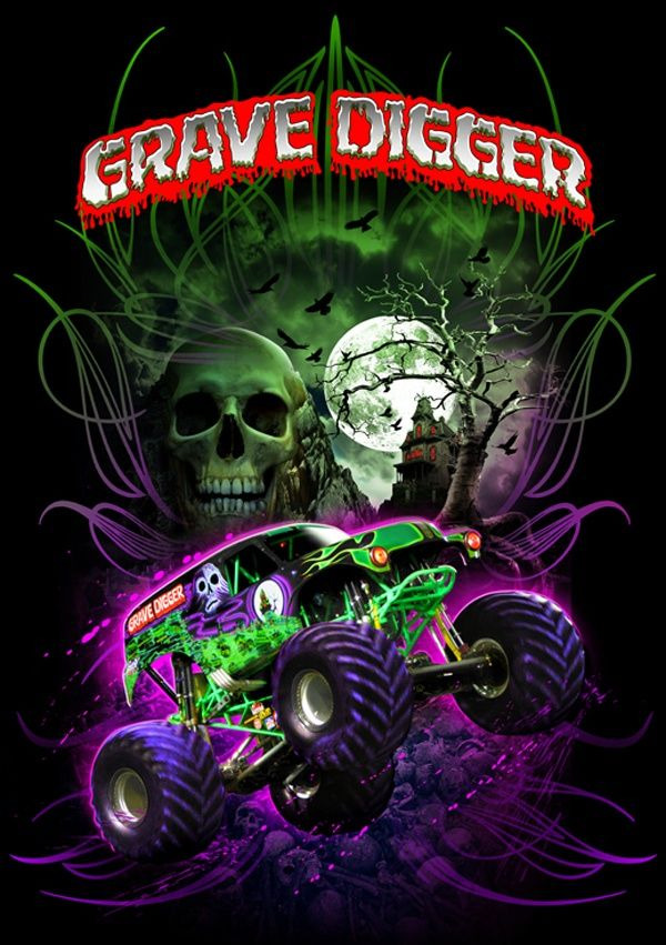 grave digger logo coloring pages - photo#29