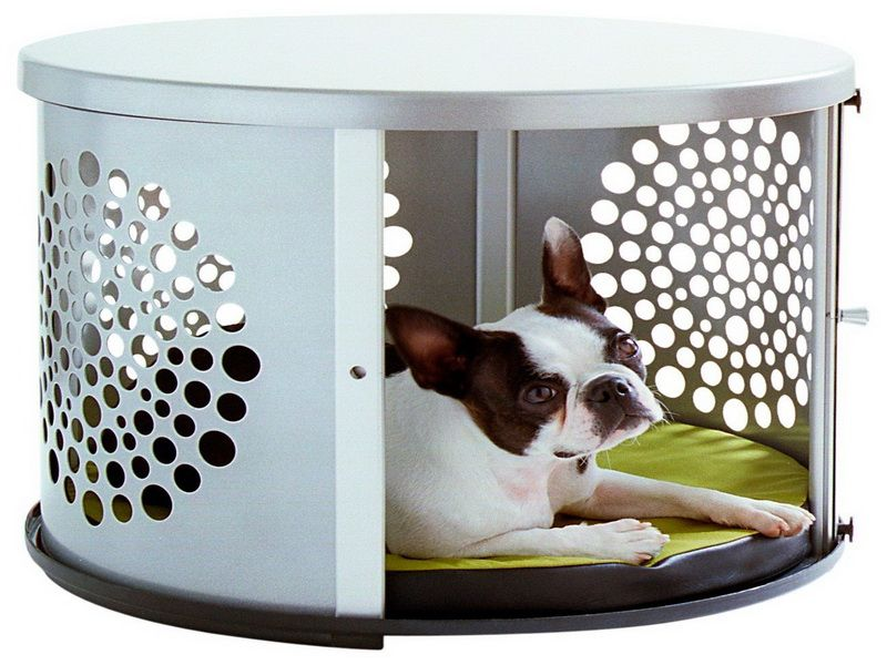 cool end table dog crate furniture | Unique End Table Dog Crate | Dog crate furniture, Dog ...