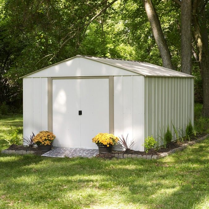 Arrow 10x14 Oakbrook Steel Storage Shed Kit Metal Storage Sheds Garden Storage Shed Steel Storage Sheds