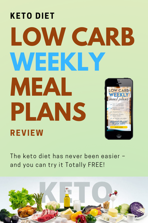 Low Carb Weekly Meal Plans Don't spend another second ...