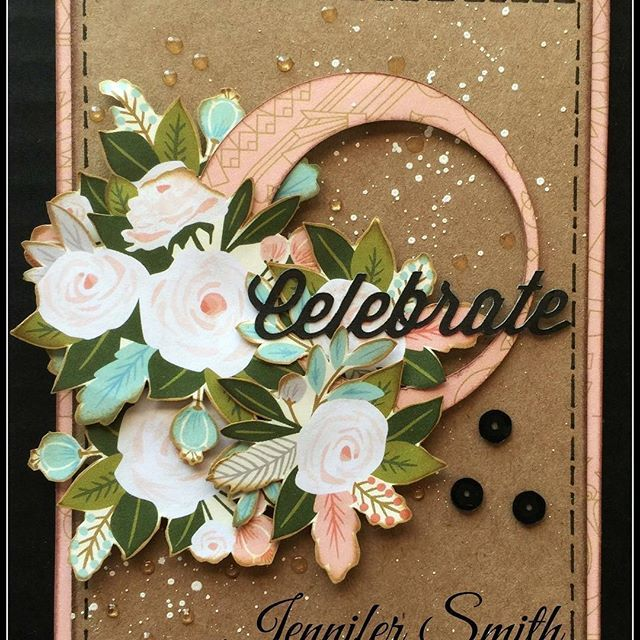 Celebrate Handmade Card With Close To My Heart Hello Lovely Ctmhhellolovely Createbyjennifer Ctmh Celebrate Cardmakin Floral Cards Flower Cards Ctmh Cards
