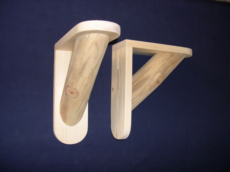 Log shelf brackets diy 1 pair large size unfinished rustic for log shelf brackets diy 1 pair large size unfinished rustic for do it yourself solutioingenieria Gallery