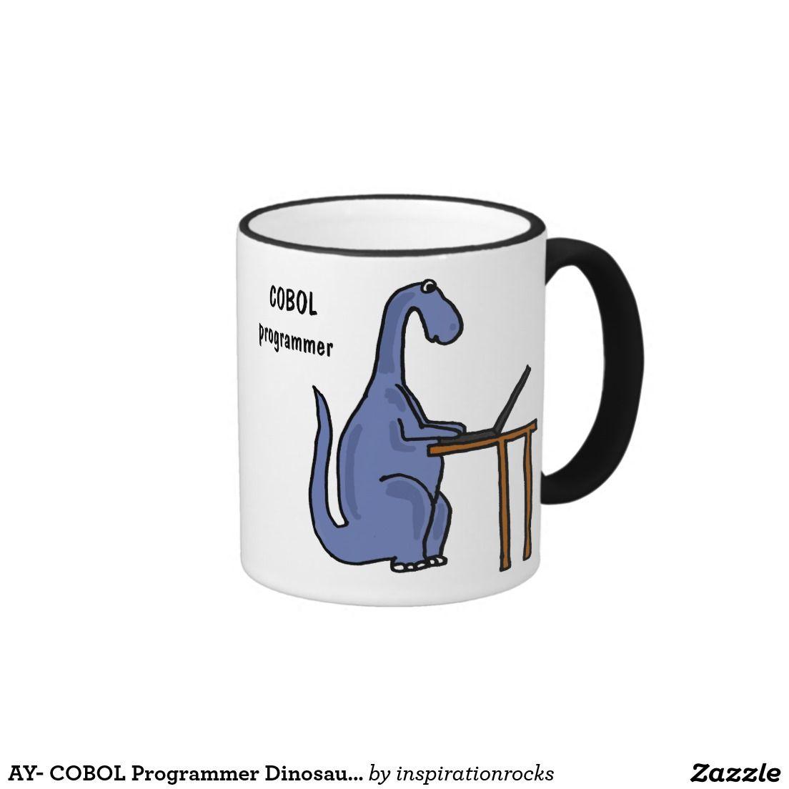 Ay cobol programmer dinosaur mug