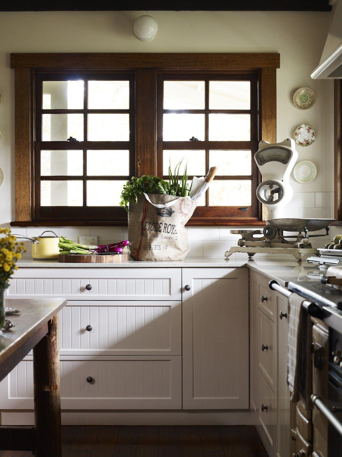 Love the bead board doors. Kitchen inspirations